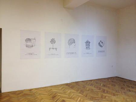 Vesna Bukovec, I promise to change the world but only if 10 other people will do the same, exhibition view