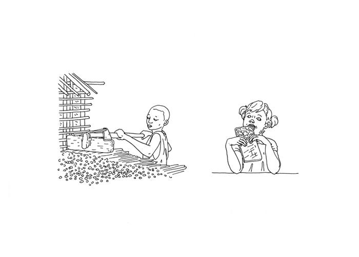 Vesna Bukovec, iz serije risb Na čigav račun, 2015
