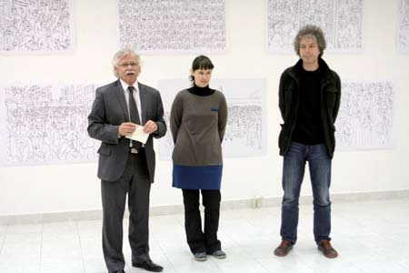 Opening of the exhibition Vesna Bukovec: Risbe