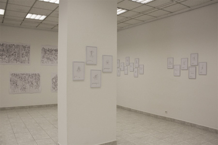 Vesna Bukovec: Risbe, exhibition view