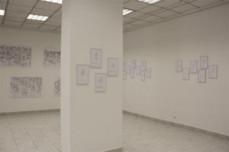 Vesna Bukovec: Risbe, exhibition view