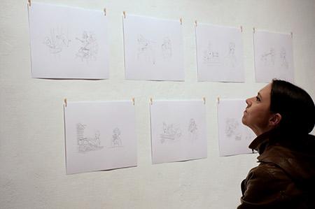 Vesna Bukovec: Exploanation, Alkatraz Gallery, exhibition opening. Photo: Sunčan Stone.