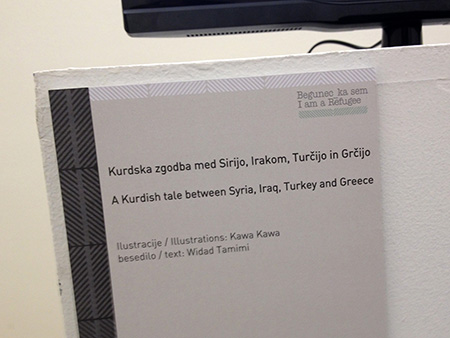 Kurdska zgodba med Sirijo, Irakom, Turčijo in Grčijo (ilustracije: Kawa Kawa, besedilo: Widad Tamimi)
