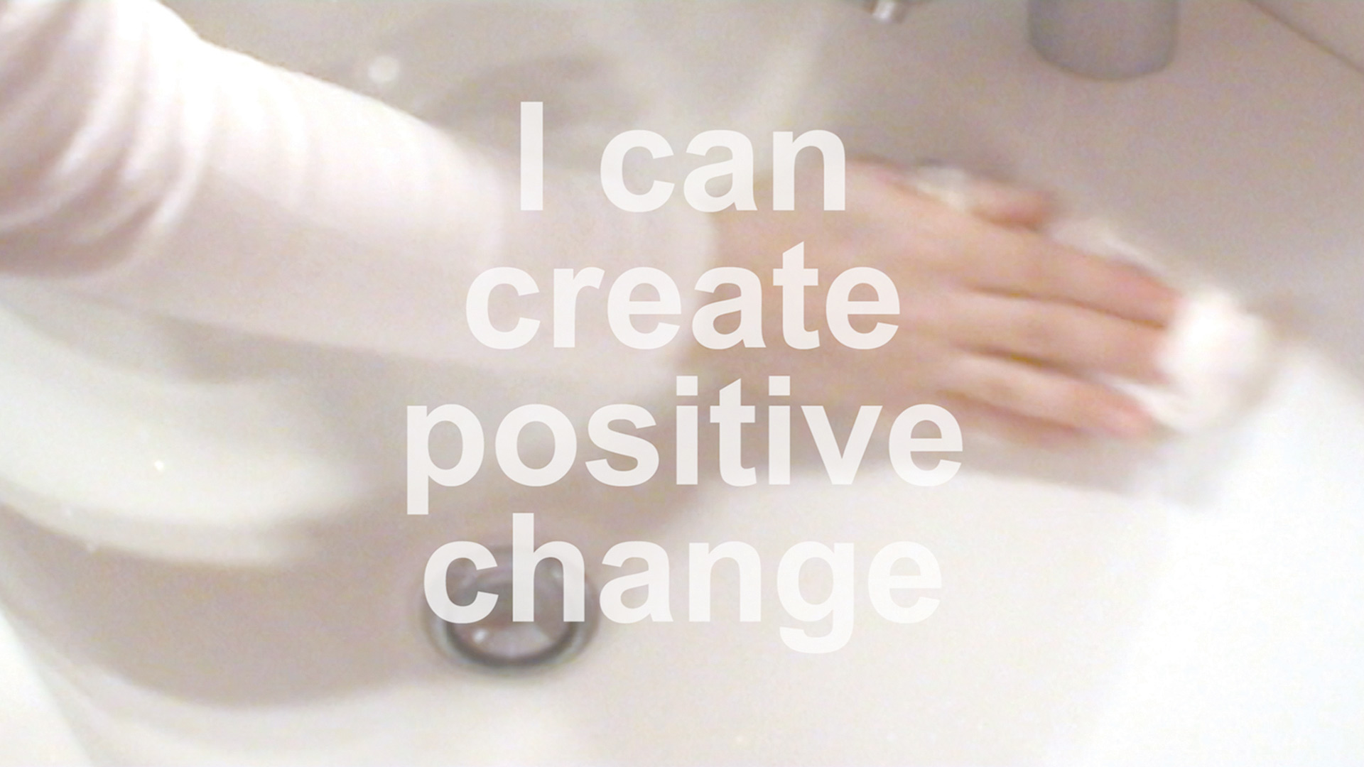 Vesna Bukovec, I can create positive change (White Performances / Positive Affirmations)
